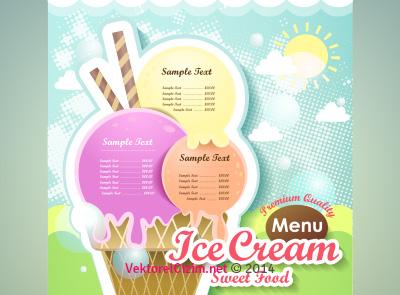Dondurma Menü Tasarımı