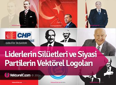 Liderler ve Siyasi Partilerin Vektörel Logoları