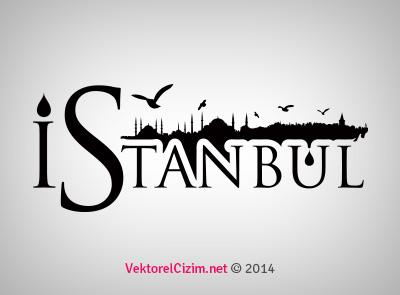 Tipografik İstanbul Silüeti