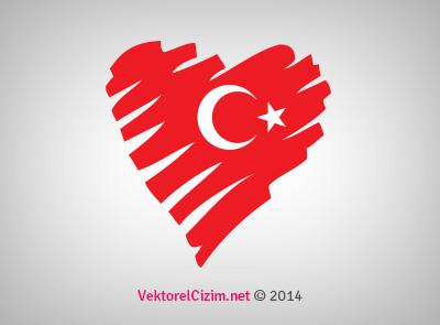 Türk Bayrağı, Kalp