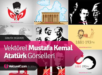 Vektörel Mustafa Kemal Atatürk Görselleri