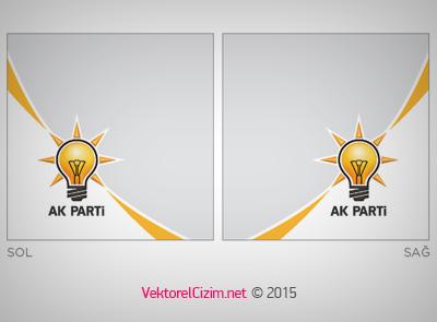 AK PARTi Logo Bantlı Kullanım