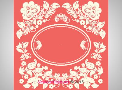 Çiçek Desenli Çerçeve