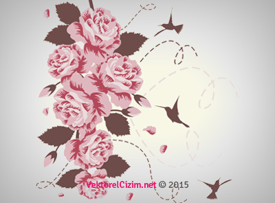 Gül, Kuş, Çiçek