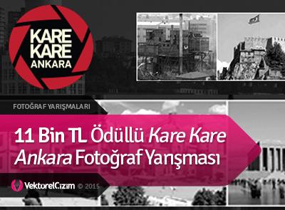 11 Bin TL Ödüllü Kare Kare Ankara Fotoğraf Yarışması