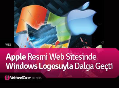 Apple, Windows Logosuyla Dalga Geçti