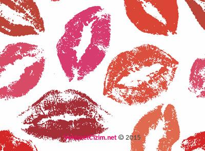 Dudak, Öpücük İzleri