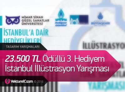 23.500 TL Ödüllü 3. Hediyem İstanbul İllüstrasyon Yarışması