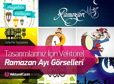 Tasarımlarınız İçin Vektörel Ramazan Ayı Görselleri