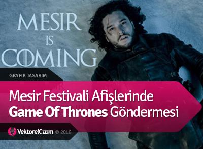 Mesir Festivali Afişlerinde Game Of Thrones Göndermesi