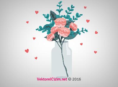 Vazo, Çiçek