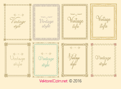 Dekoratif Vintage Çerçeveler