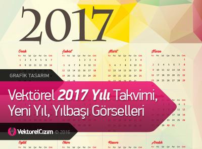 Vektörel 2017 Yılı Takvimi, Yılbaşı Görselleri