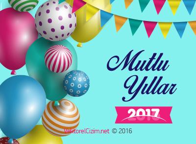 Mutlu Yıllar 2017, Balonlar, Yılbaşı Tebriği
