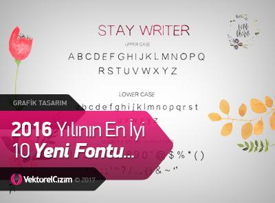 2016 Yılının En İyi 10 Yeni Fontu