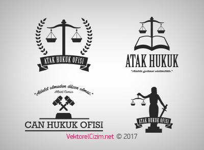 Avukat, Adalet, Hukuk Ofisi Logo Şablonu