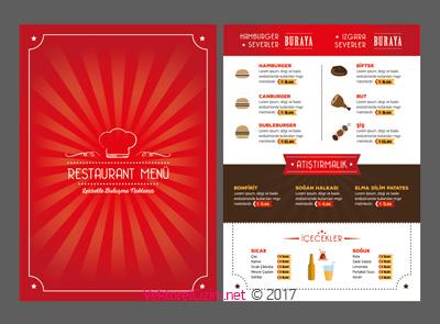 Vektörel Restaurant, Cafe, Logo, Menü, Aşçı Görselleri