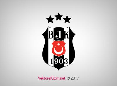 Vektörel çizim Beşiktaş üç Yıldızlı Logo