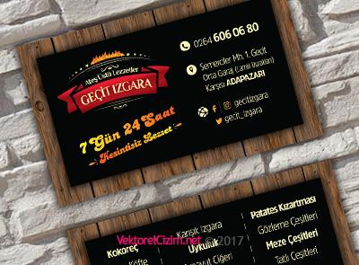 Mangal Restaurant Kartvizit Tasarımı Şablonu