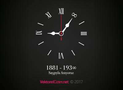 10 Kasım, Atatürk'ü Anma Günü, Saat