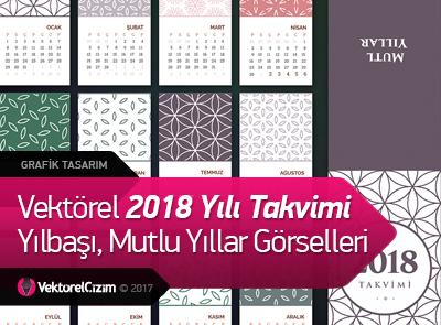 2018 Takvimi, Yeni Yıl, Mutlu Yıllar, Yılbaşı Görselleri