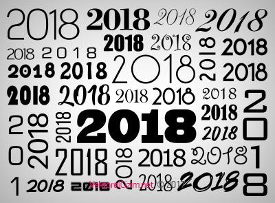 2018, Yılbaşı, Yeni Yıl Tipografisi