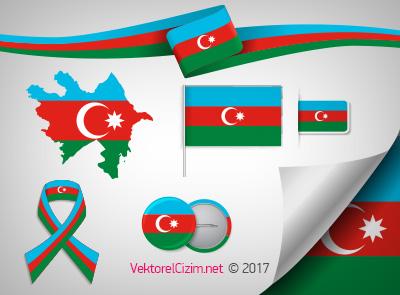 Azerbaycan Bayrağı, Haritası