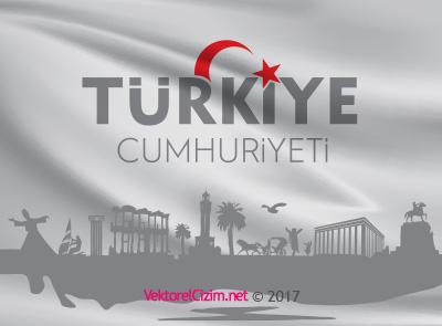 Türkiye Cumhuriyeti, Bayrak, Logo, Silüet