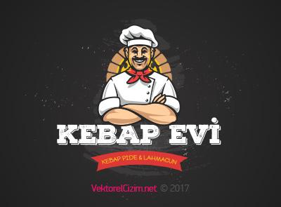 Pide, Kebap, Lahmacun, Pizza, Restaurant Logo Şablonu