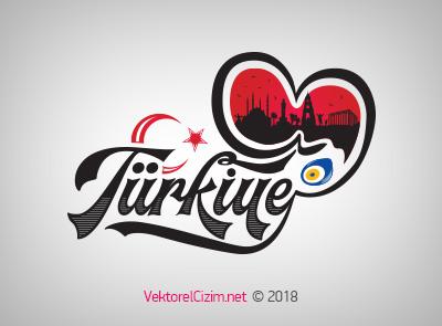 Türkiye Silüeti ve Tipografisi