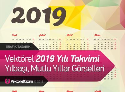 2019 Takvimi, Yeni Yıl, Mutlu Yıllar, Yılbaşı Görselleri