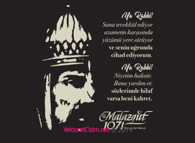 Malazgirt Zaferi Sultan Alp Arslan Silüeti ve Duası